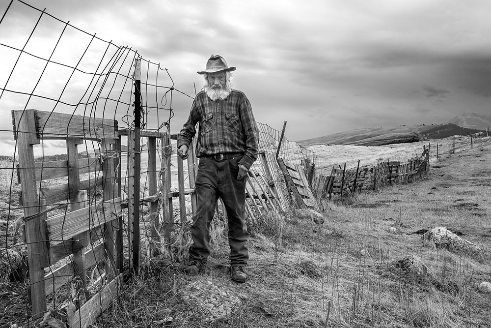 """""""John at His Fence Line"""" by School of Photography MFA student Cynthia Matty Huber"""