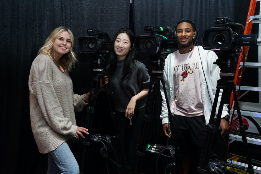 School of Communications students operating cameras