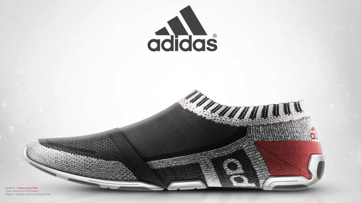 Adidas black, grey and red NuFoot Driving shoe
