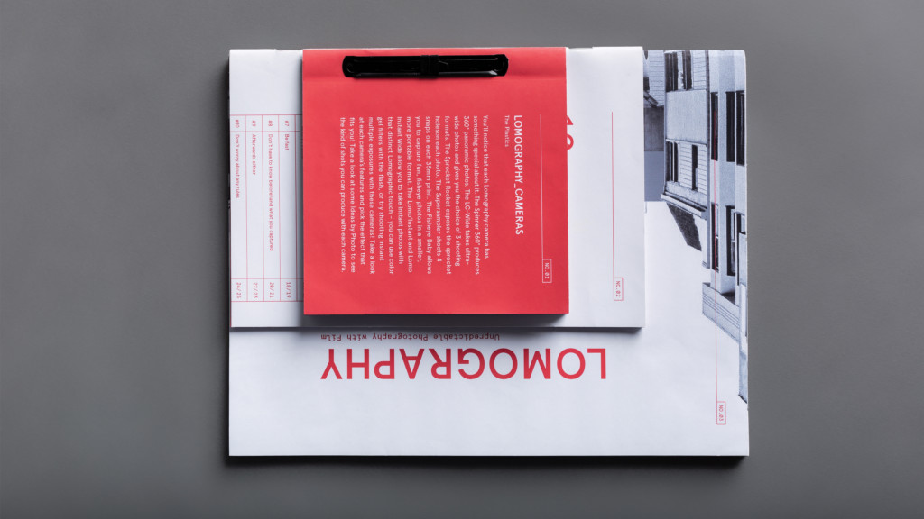 A pink, closed Magazine called Lomography