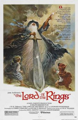 The cover of The Lord of The Rings animated adaption by Retta Davidson